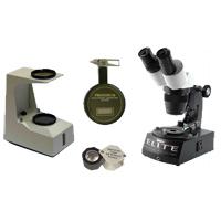 геммологический инструмент: лупы, микроскопы, детекторы
